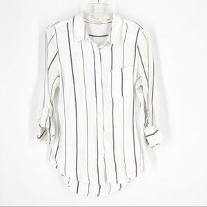 Thread +Supply striped button down shirt